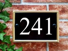 Personalized House Number Sign – 180mm x 124mm; 7.1 inches x 4.9 inches